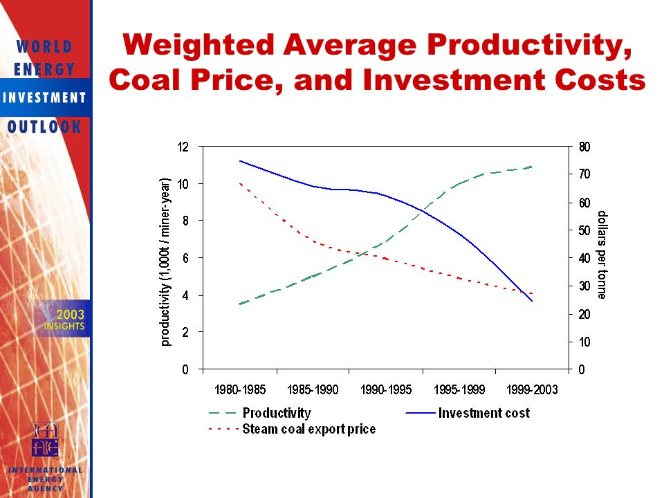 Weighted Average Productivity, Coal Price, and Investment Costs