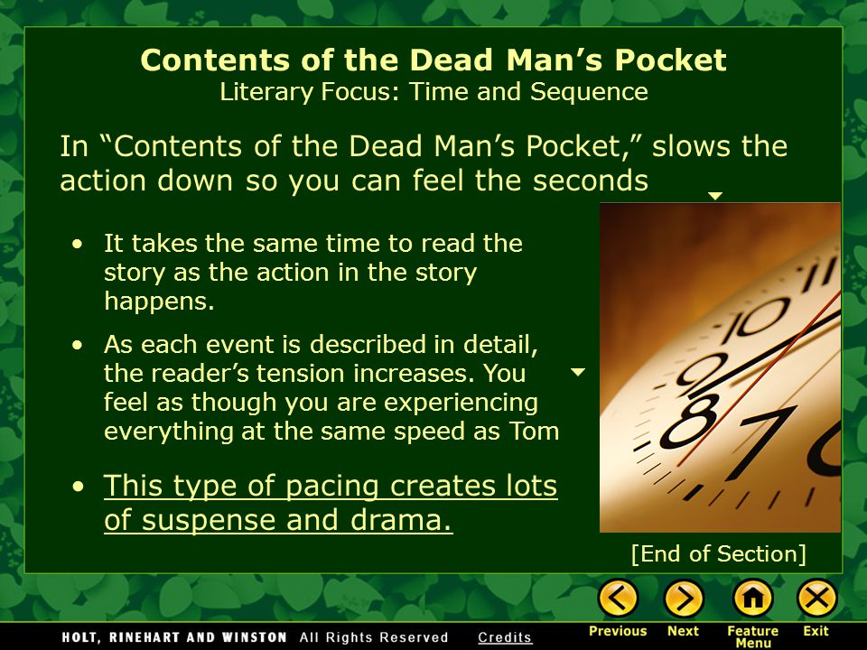 contents of the dead mans pocket Contents of the dead man's pockets jack finney there are two settings in this story what is the function of each one can you see the relation of setting to the plot.