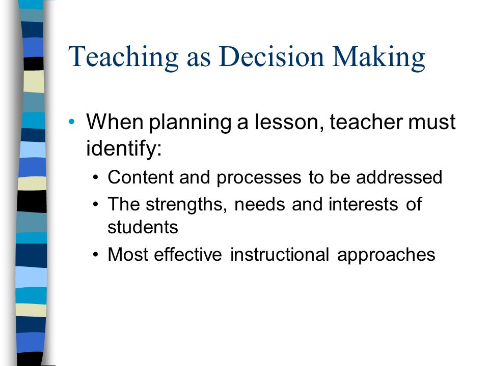 Teaching as Decision Making