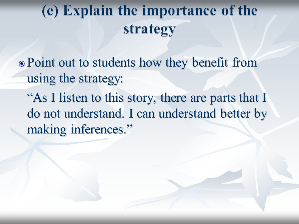 demonstrate strategies that can be used to clarify misunderstandings Strategies to overcoming communication  below are a few more tips that can at least get  • ask if you're being understood and clarify any misunderstandings.