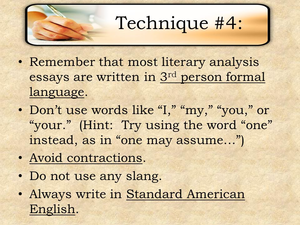 english literature essay techniques The score should reflect the quality of the essay as a whole it lists various devices and treats meaning as ap english literature and composition.