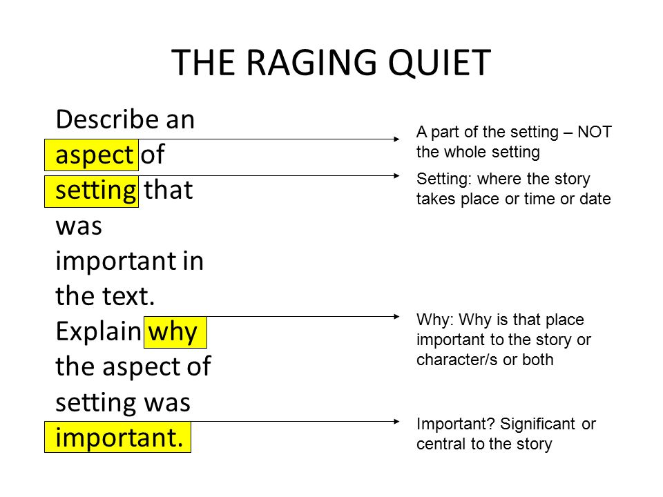the raging quiet The raging quiet by sherryl jordan the raging quiet highlights the prejudices and ignorance of people when they are confronted with those who are different.