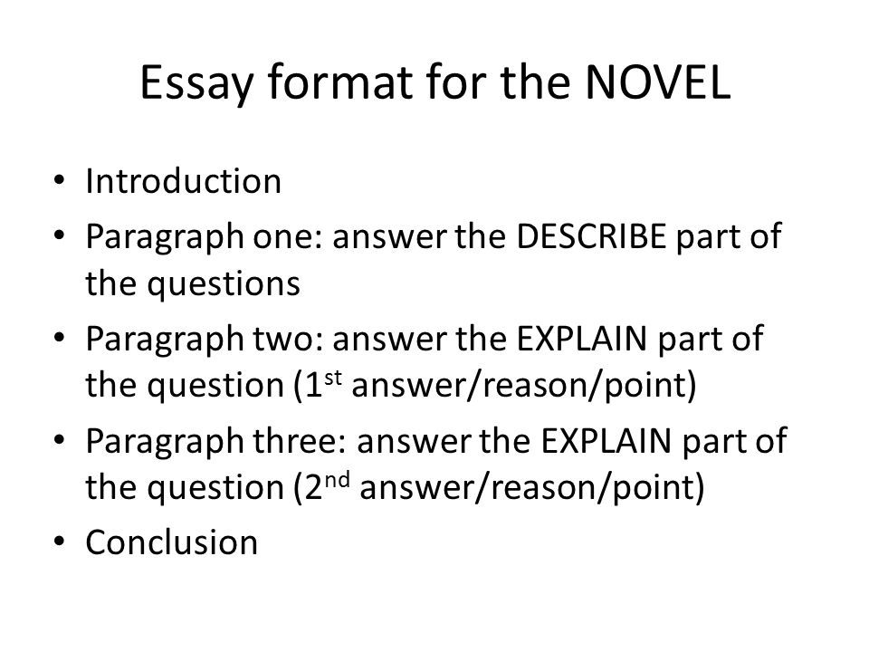question and answer essay format