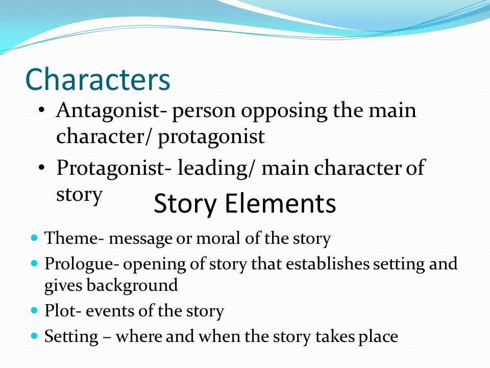 Characters Story Elements