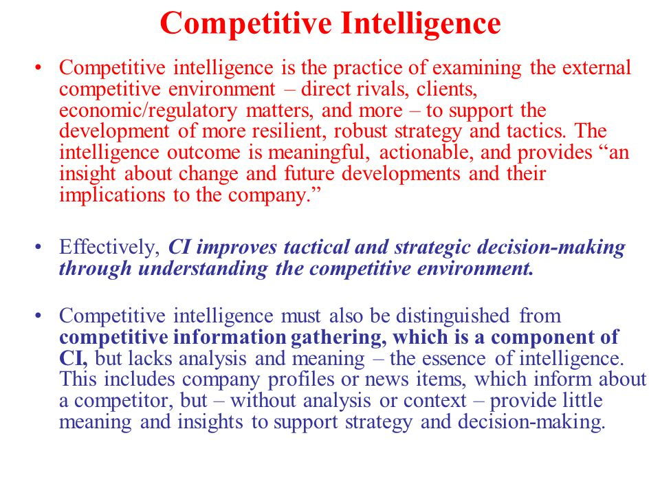 competitive intelligence gathering and ethics in