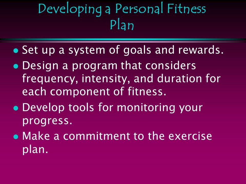 designing a workout plan