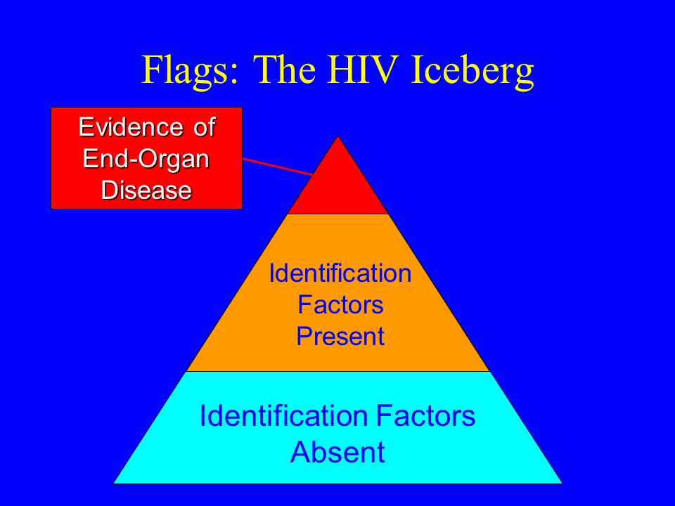 Flags: The HIV Iceberg Identification Factors Absent