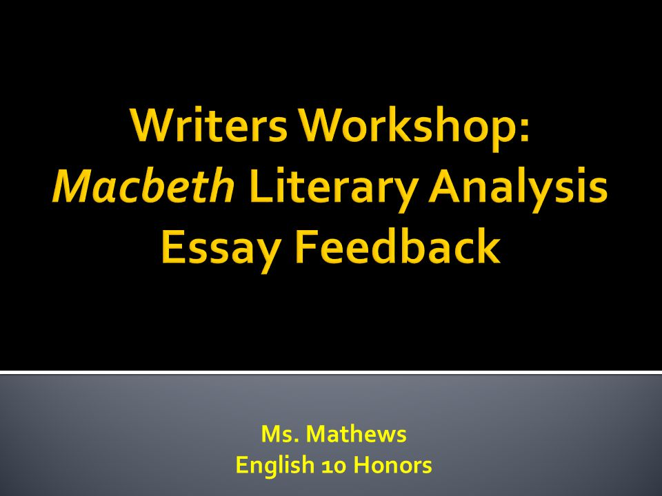 macbeth thesis