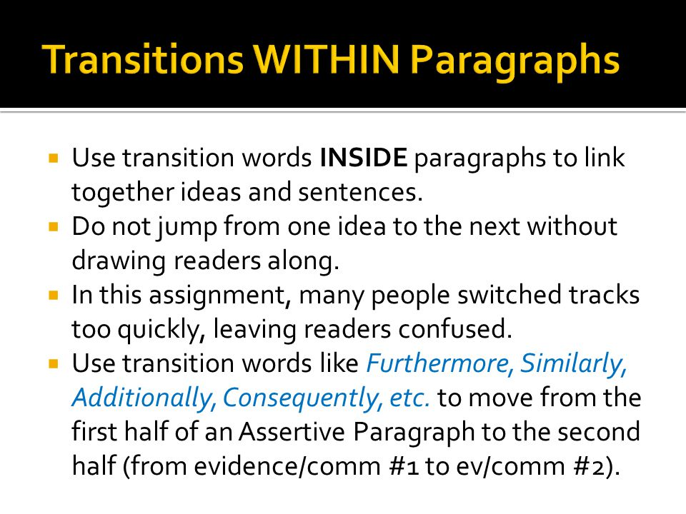 how to link essay paragraphs together It is a good idea to occasionally use linking words and phrases at the start of a new paragraph they can help to link what you have said in the previous paragraph to.