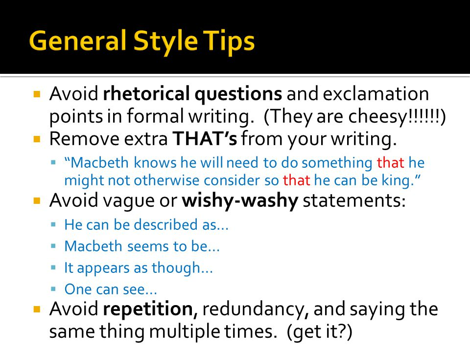 writers workshop macbeth literary analysis essay feedback ppt  4 general