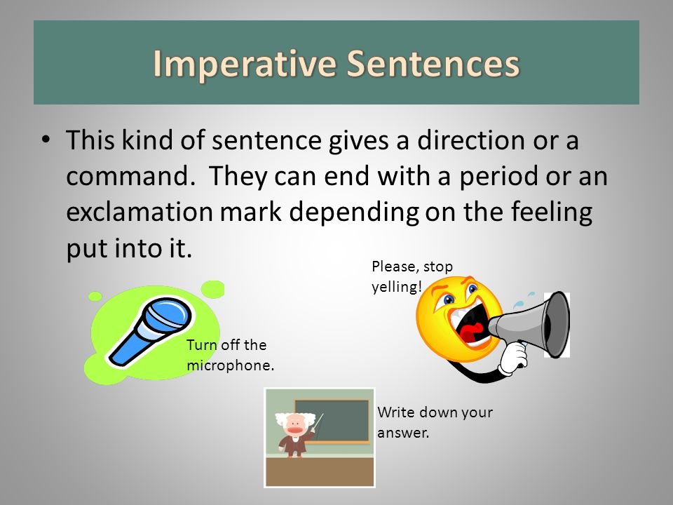 Imperative Sentences