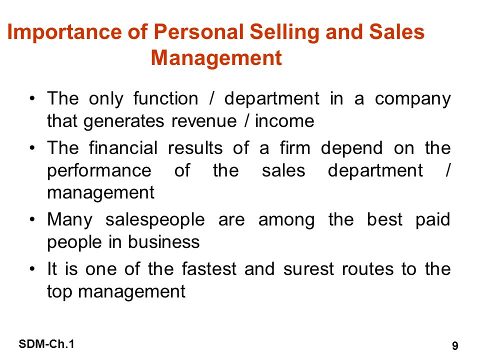 the importance and role of salespersons So, what does it take to be a successful salesperson  common sense dictates  that a person's approach to work plays an important role in their performance.