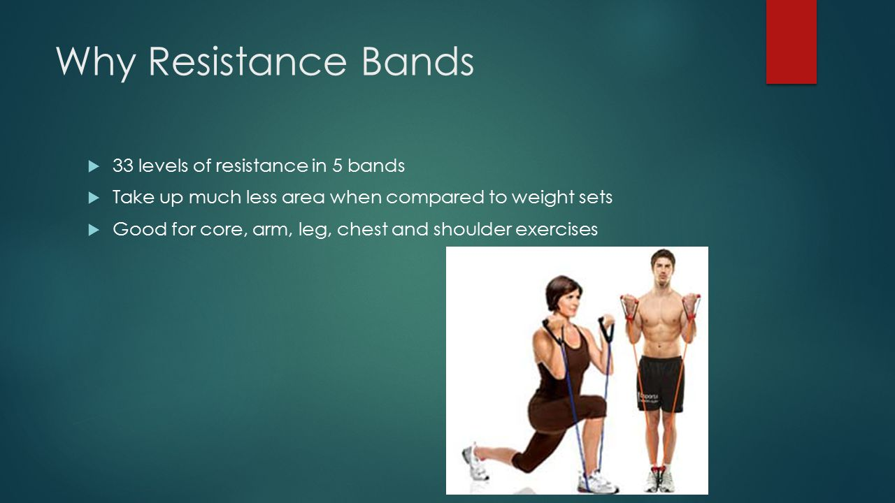 Why Resistance Bands 33 levels of resistance in 5 bands