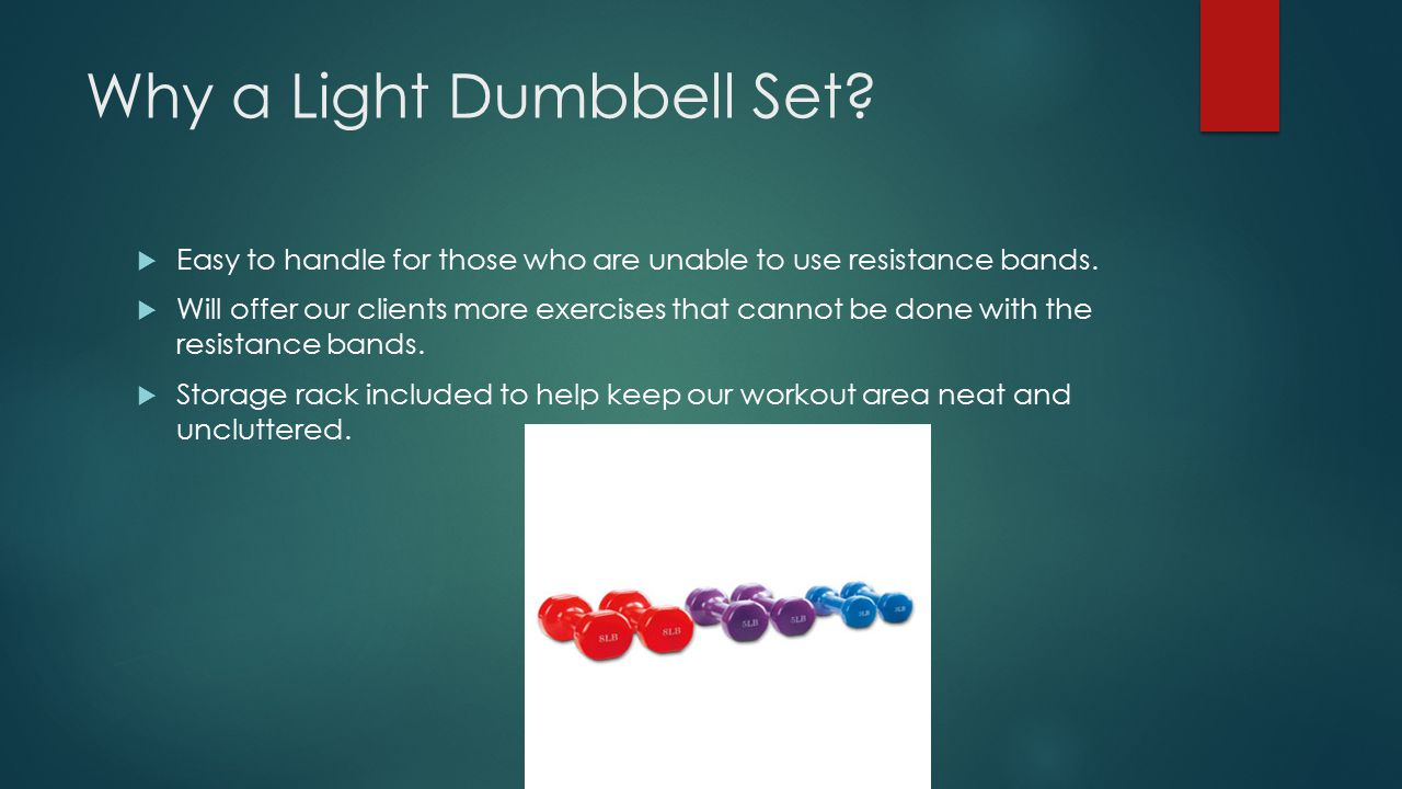 Why a Light Dumbbell Set