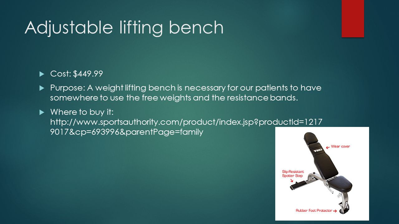 Adjustable lifting bench