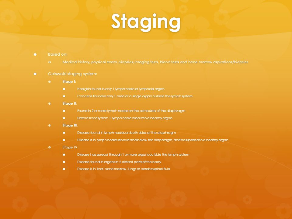 Staging Based on: Cotswold staging system: