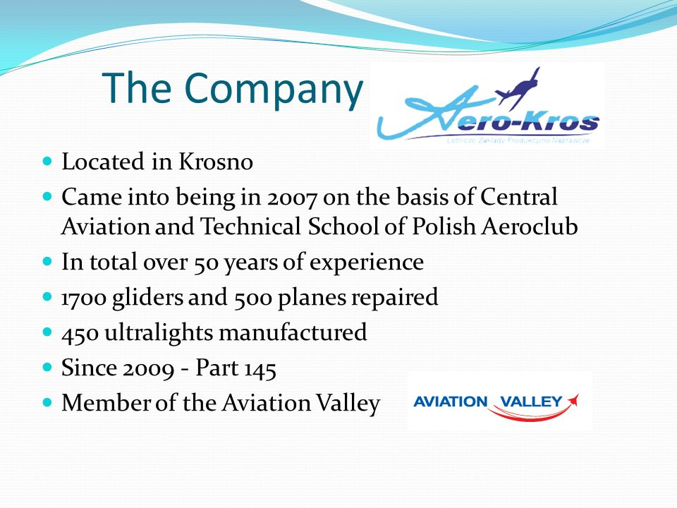 The Company Located in Krosno