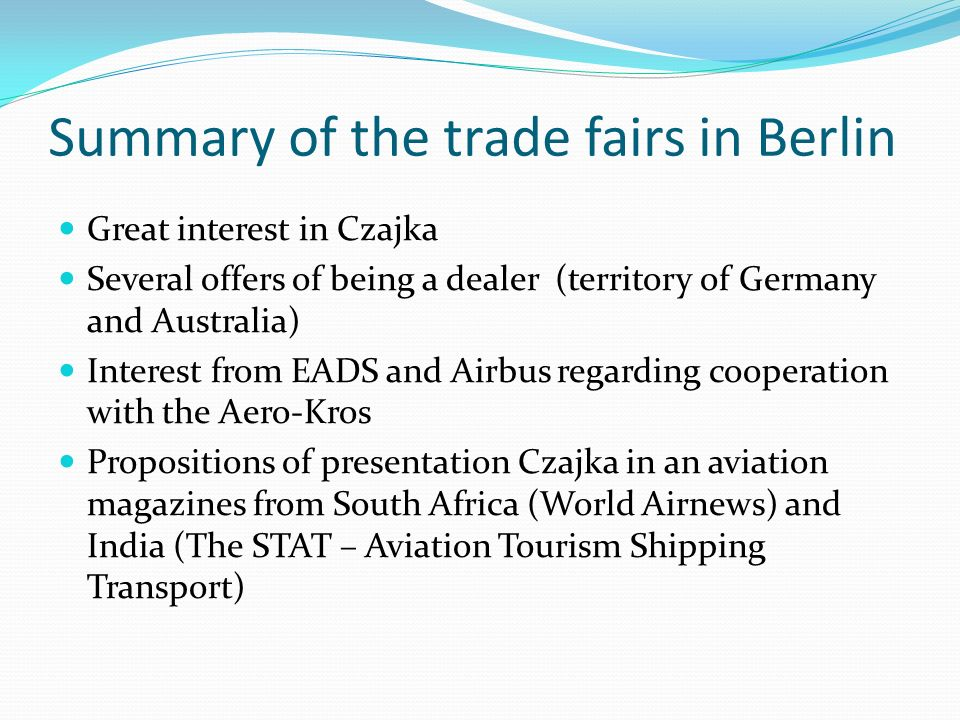Summary of the trade fairs in Berlin