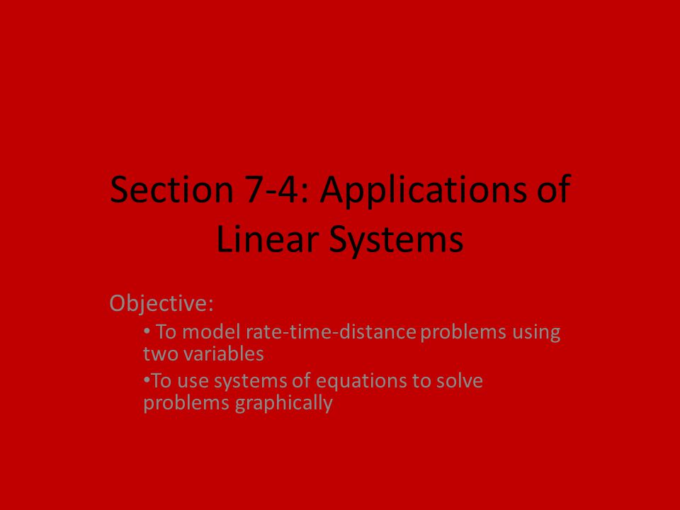 Section 7-4: Applications of Linear Systems - ppt video online ...