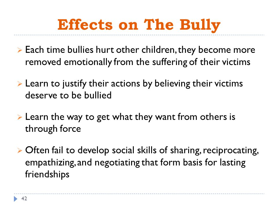 the effects of bullying on childrens behavior How does bullying affect a student's academic performance many parents do not understand the potentially damaging effects of bullying not only on a child's confidence and self-esteem but also on his academic just as important as it is to identify and punish bullying behavior.