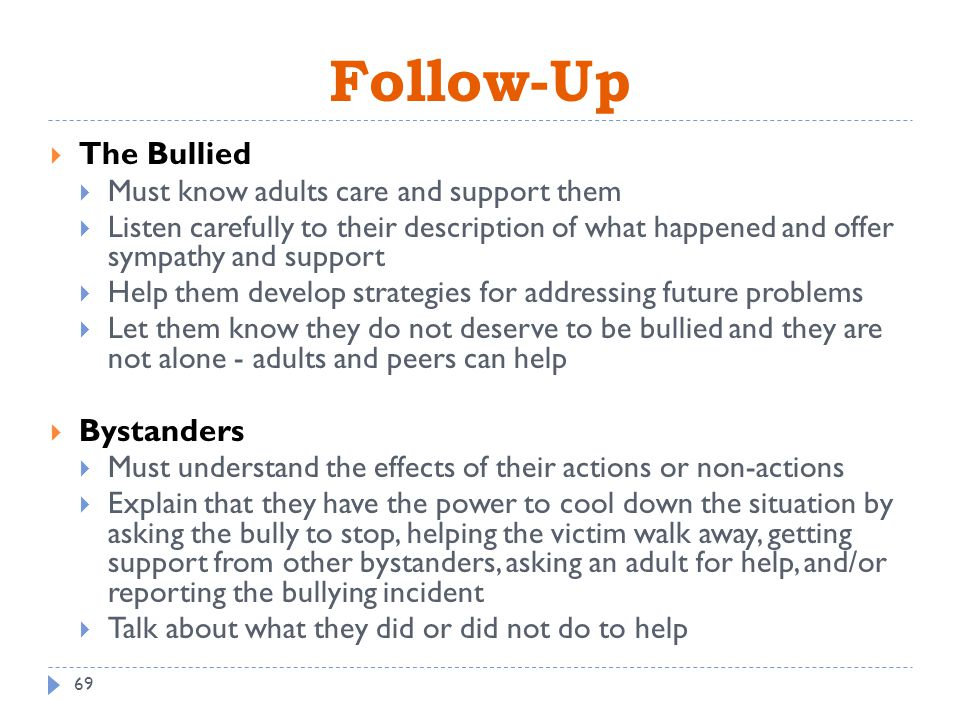 explain how to support a child when bullying is suspected