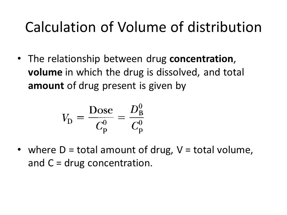 concentration and volume relationship