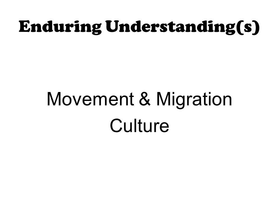 Enduring Understanding(s)