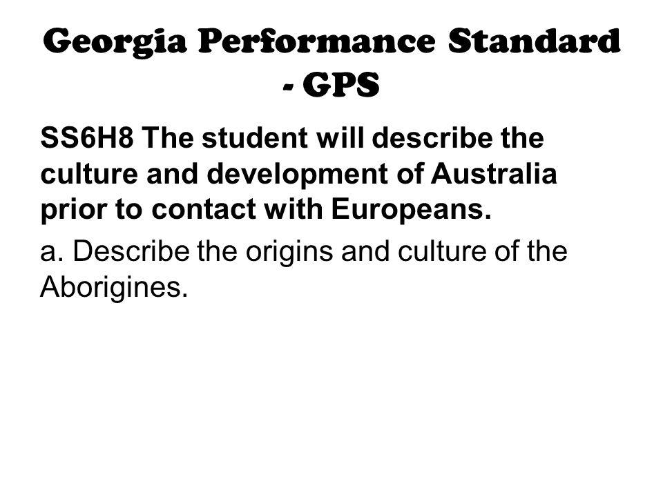 Georgia Performance Standard - GPS