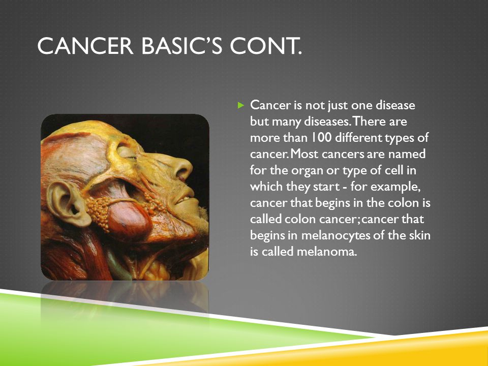 Cancer Basic's Cont.