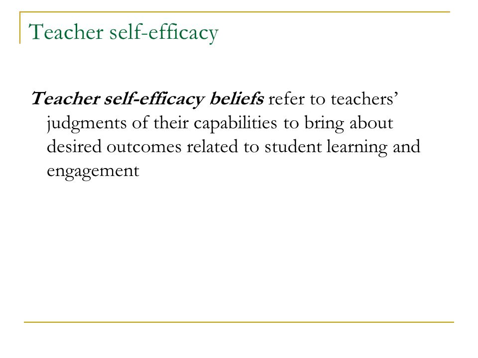 Collective Teacher Efficacy (CTE) according to John Hattie ...