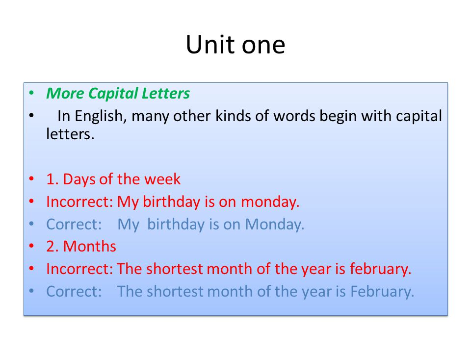 Worksheet Capital Letter English Words english writing sentence structure ppt video unit one more capital letters