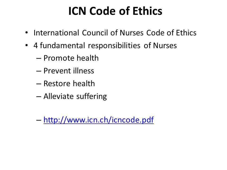 icn code of nursing