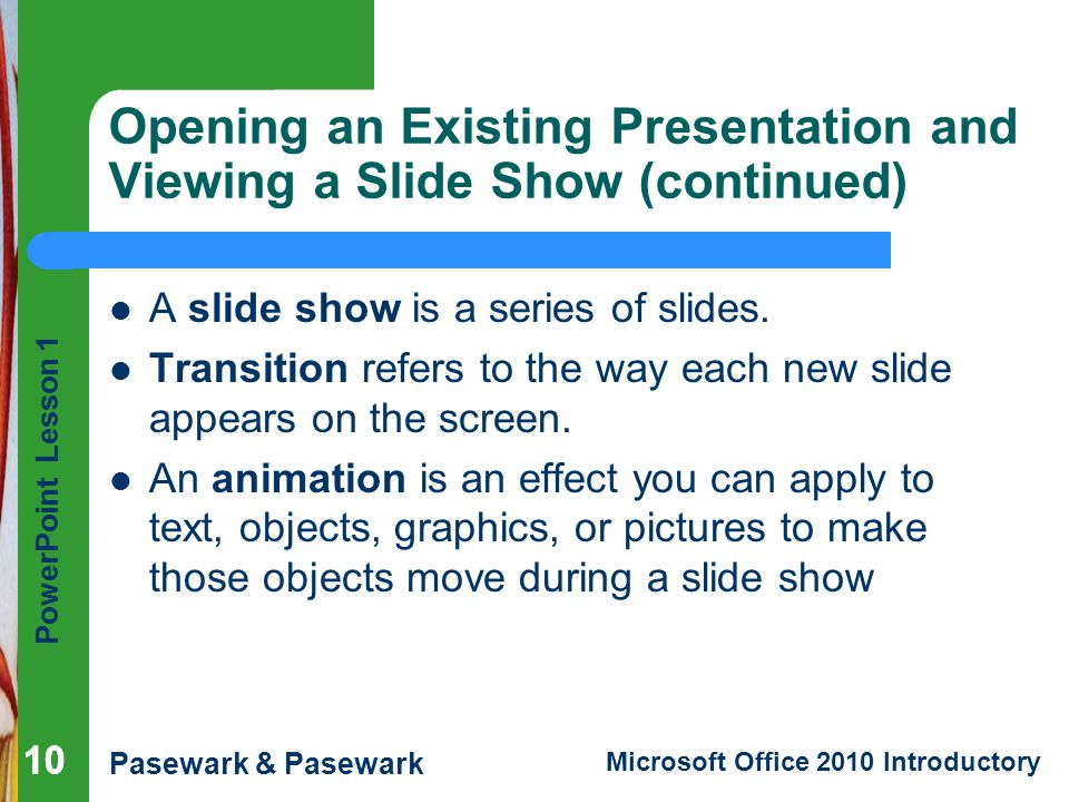 how to make a powerpoint presentation open in slideshow mode