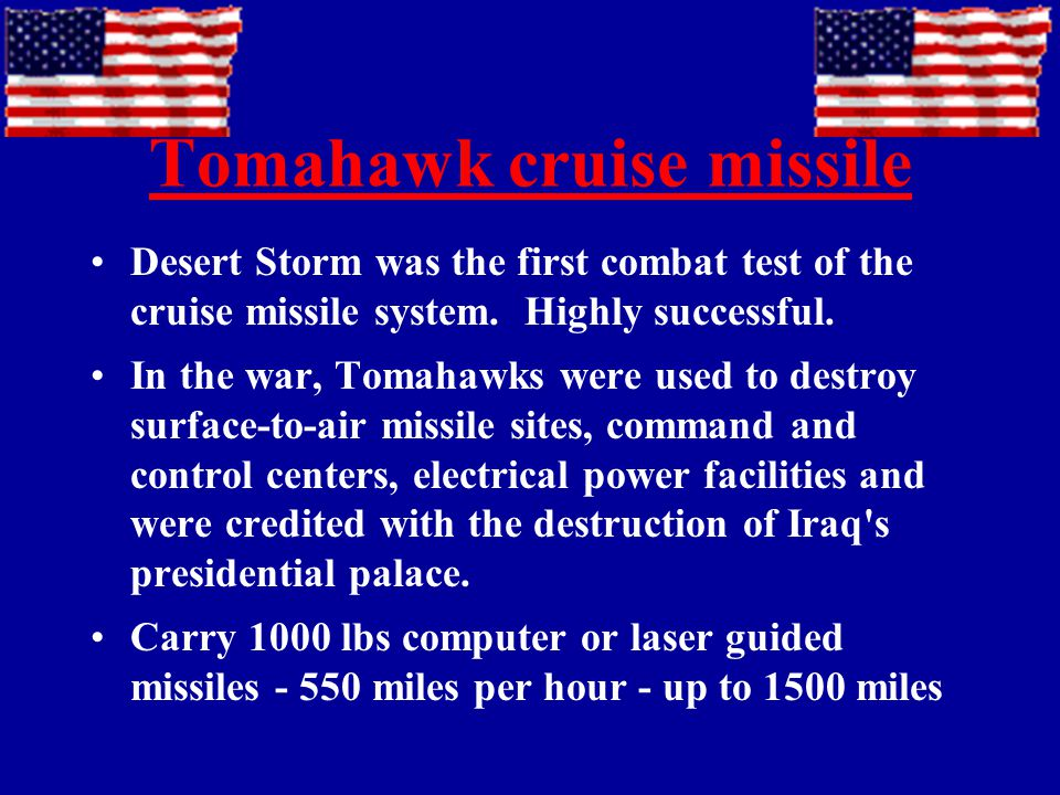 Us Weapons Of The Persian Gulf War Ppt Video Online