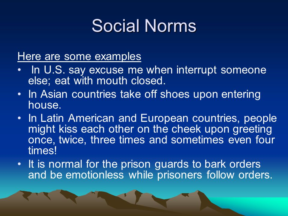 social norms The words we use matter the concept of a social norm exists in many social and  behavioral science disciplines and research traditions (1.