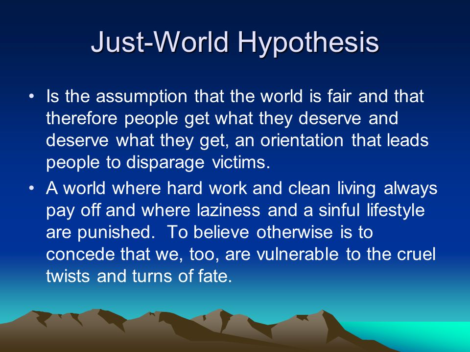World hypthesis