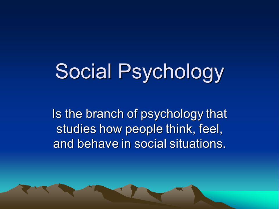 Social Psychology   Simply Psychology
