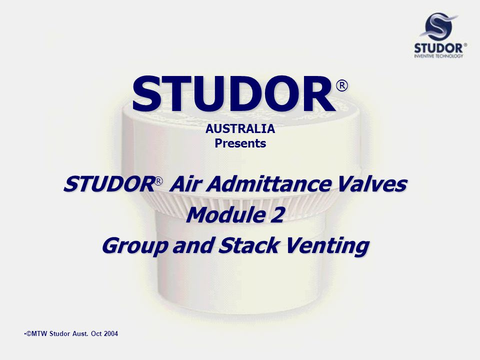 STUDOR® AUSTRALIA Presents