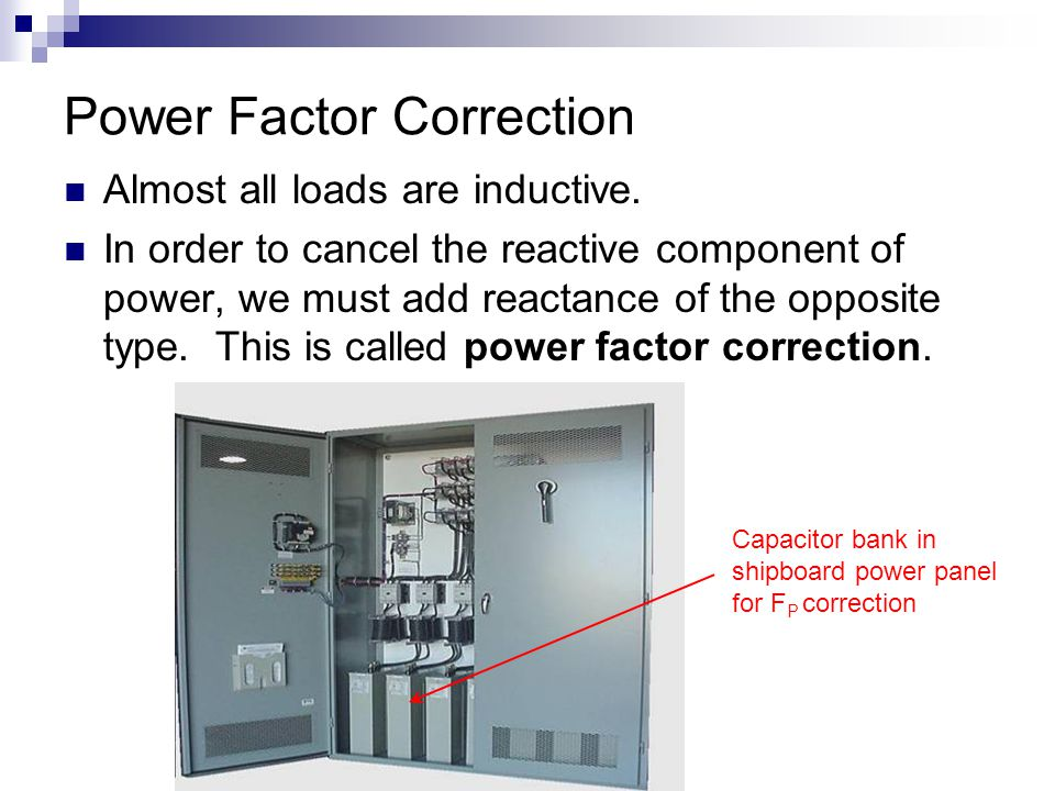 Lesson 27 power factor correction ppt video online download for Power factor correction capacitors for motors