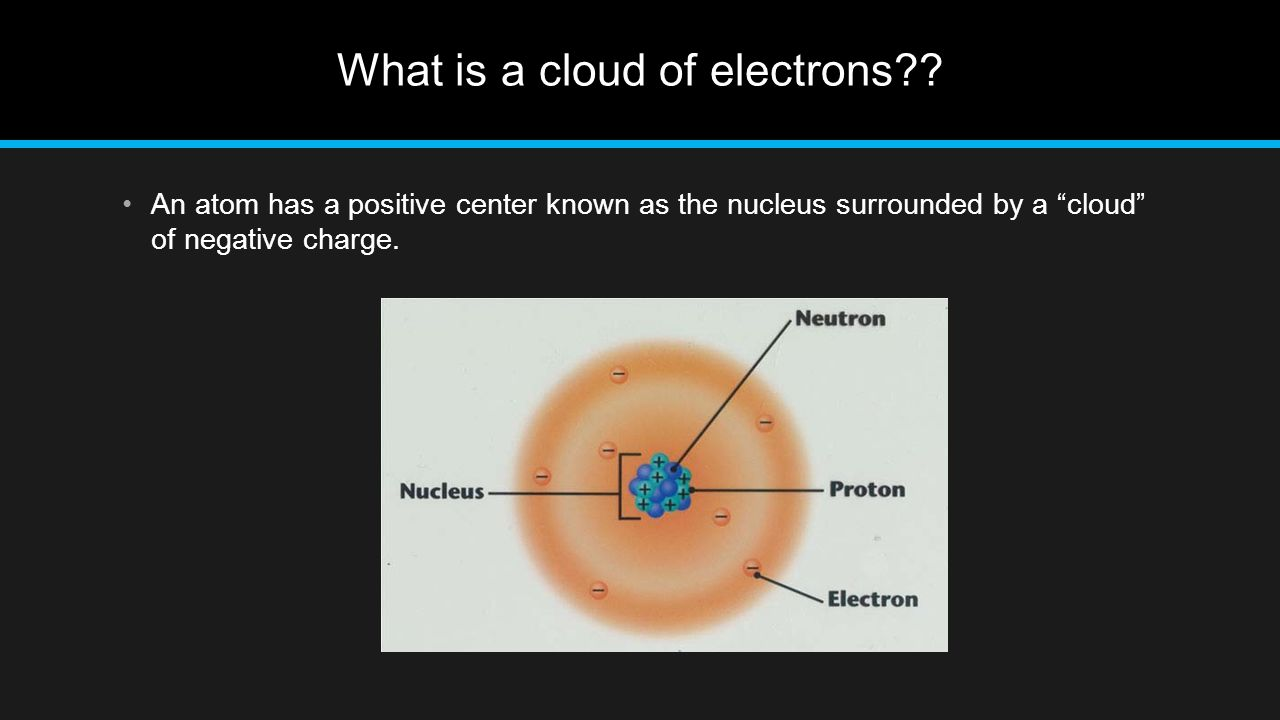 What is a cloud of electrons