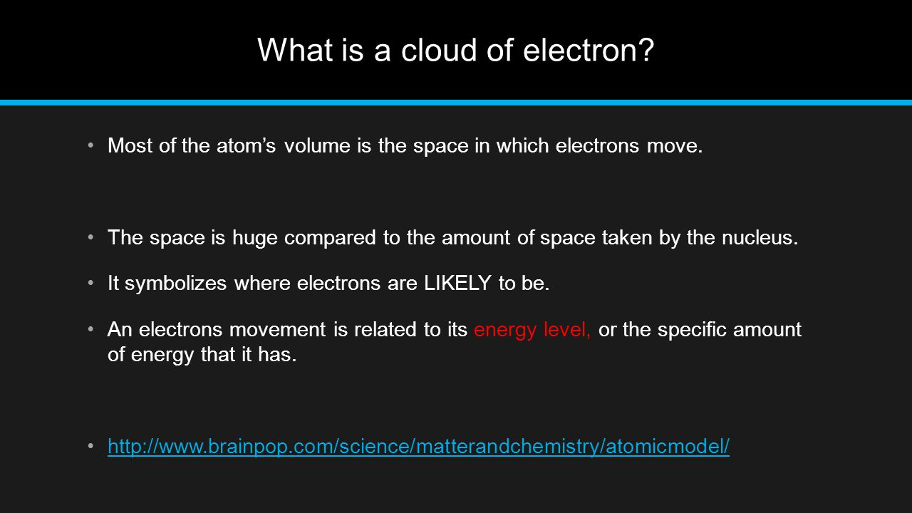 What is a cloud of electron