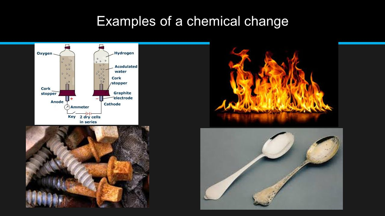 Examples of a chemical change