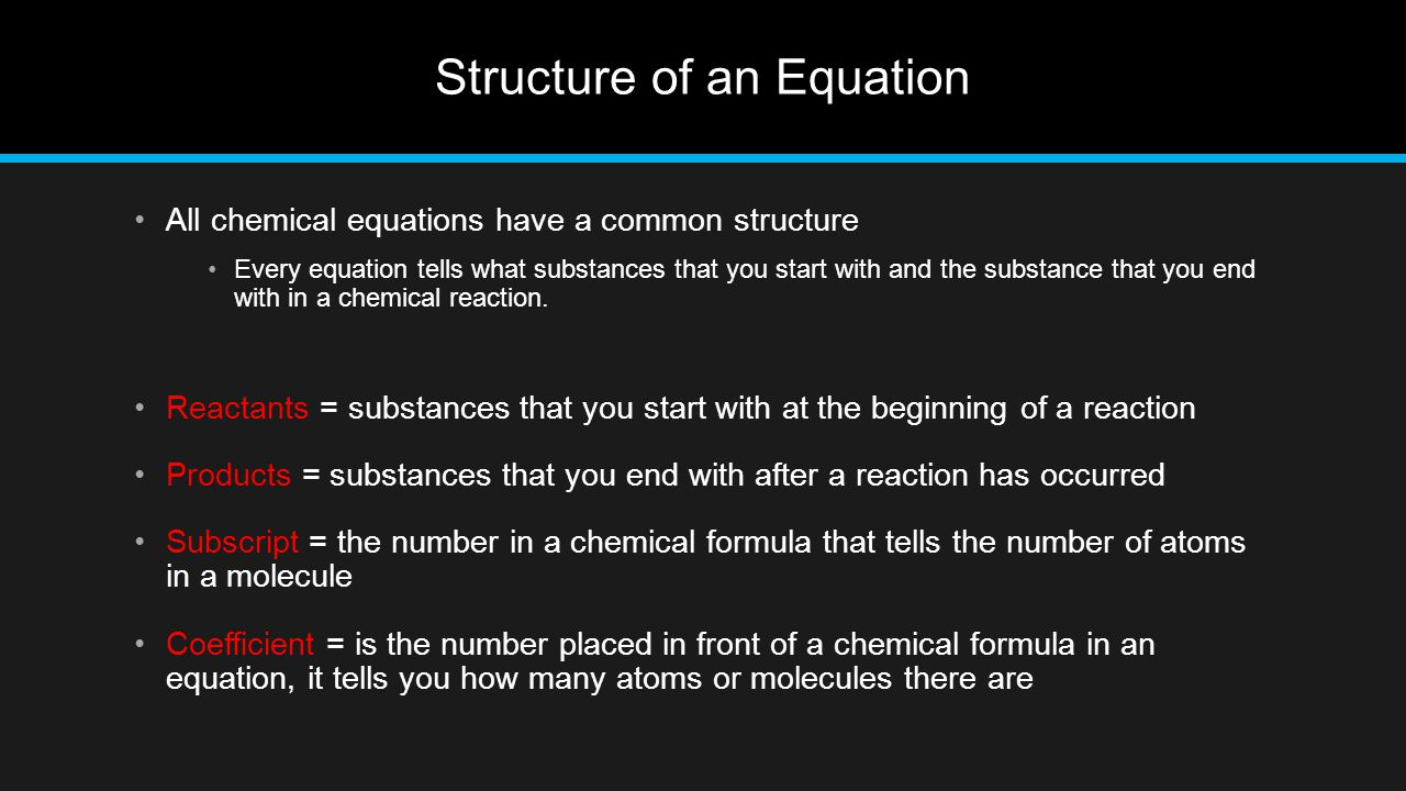 Structure of an Equation
