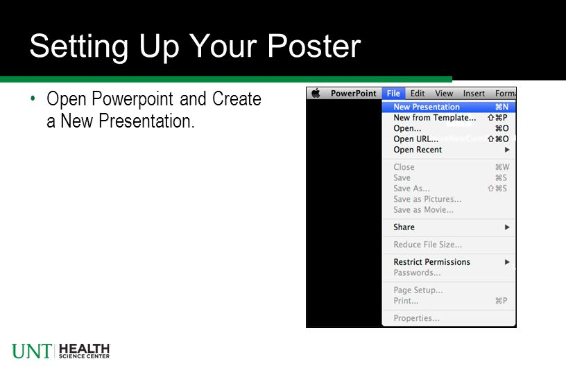 poster on powerpoint