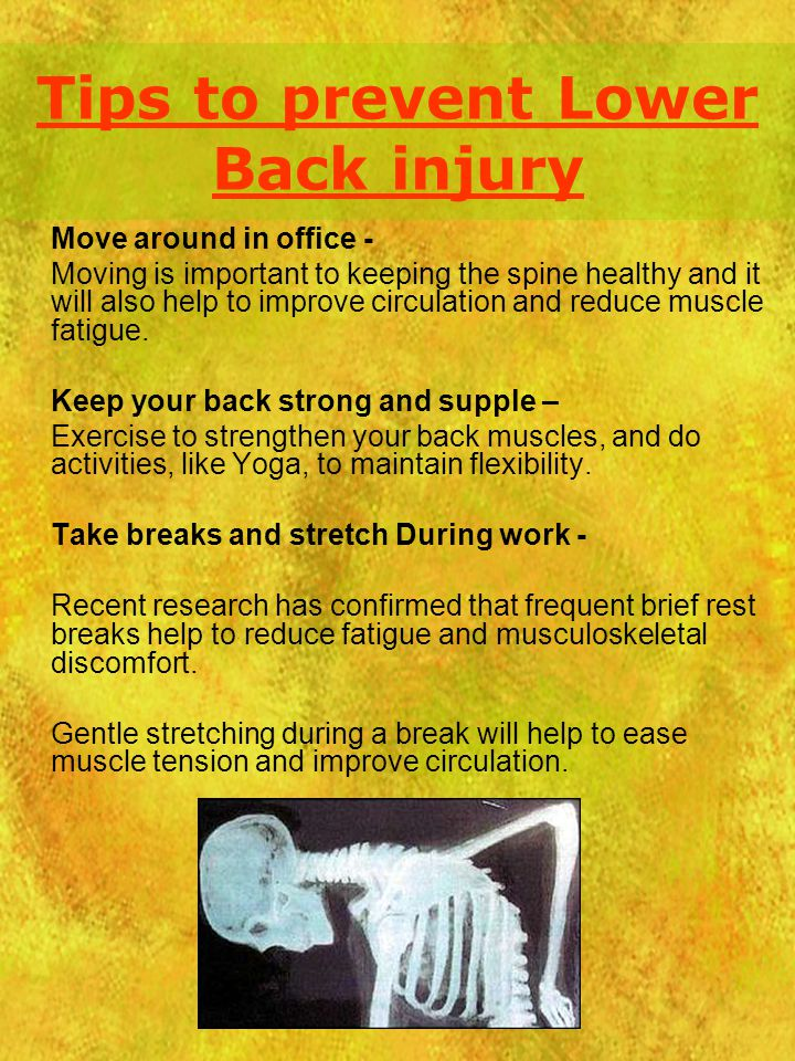 Tips to prevent Lower Back injury