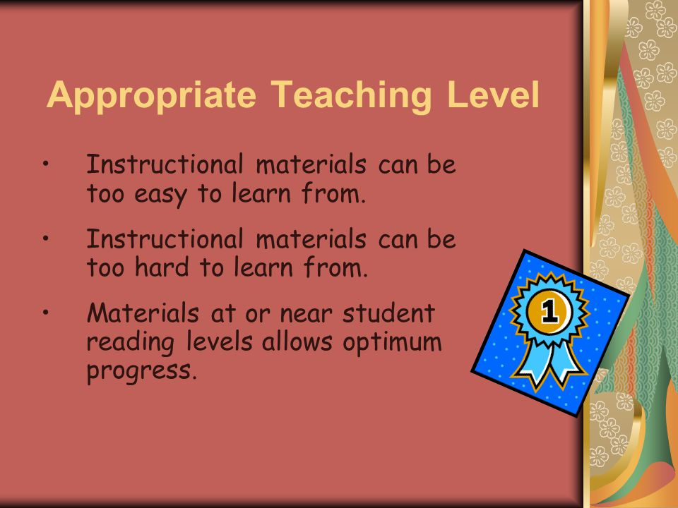 Instructional Materials In Teaching Reading