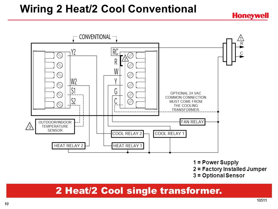 Wiring+2+Heat%2F2+Cool+Conventional commercial visionpro™ ppt download honeywell t7300 wiring diagram at n-0.co