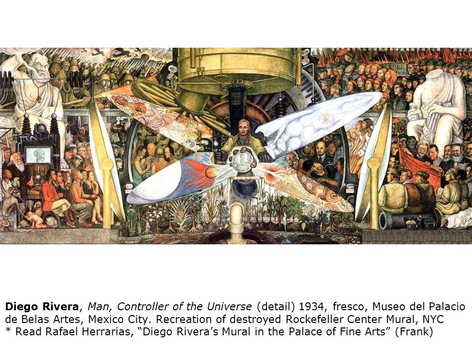 The mexican mural movement ppt download for Diego rivera rockefeller center mural destroyed