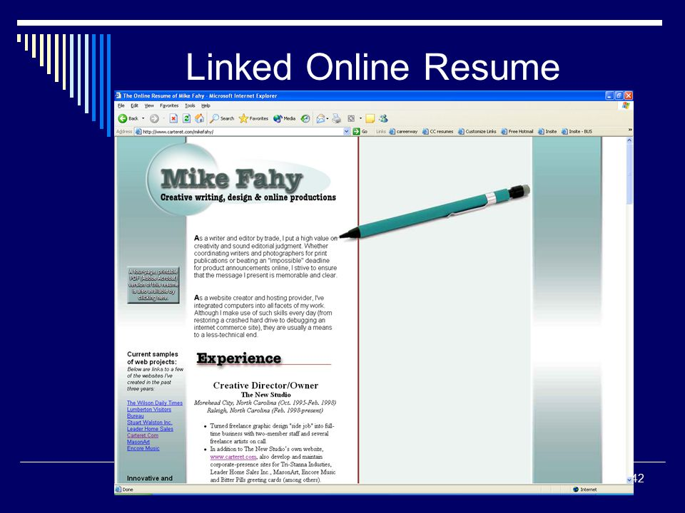 online resume hosting