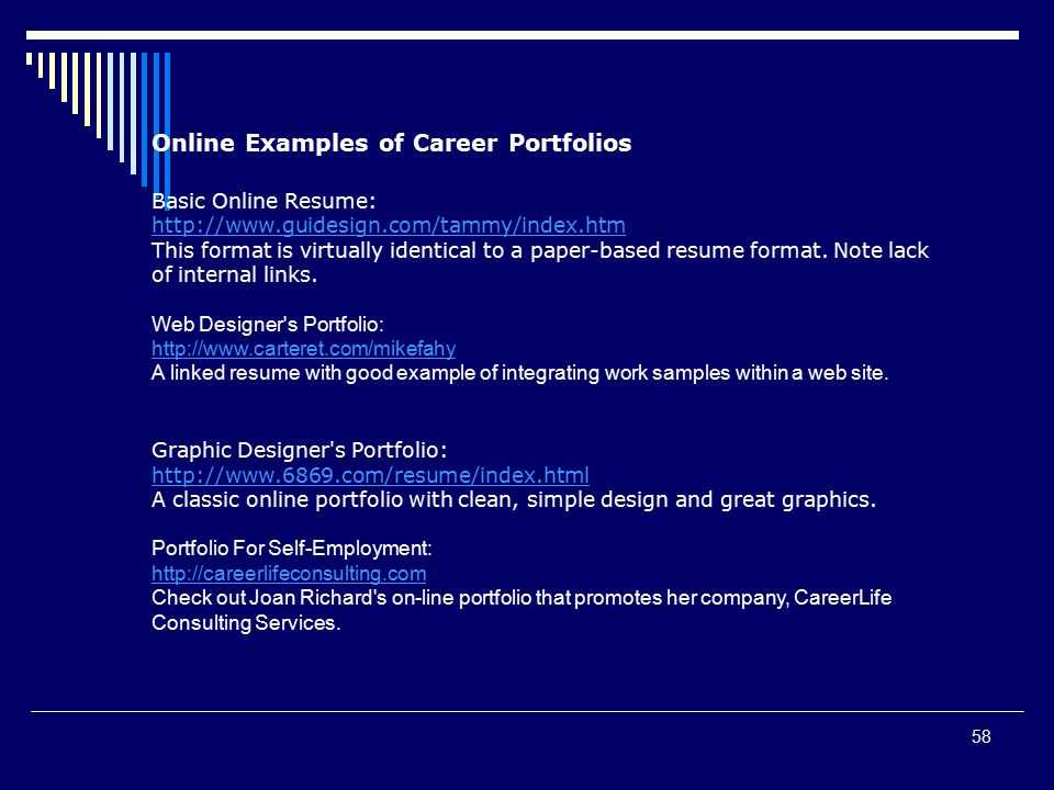 Online writing services portfolio examples
